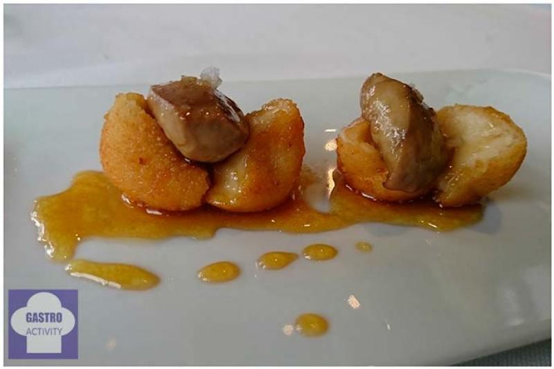 Coquetas de foie y manzana, con reducción al Pedro Ximenez