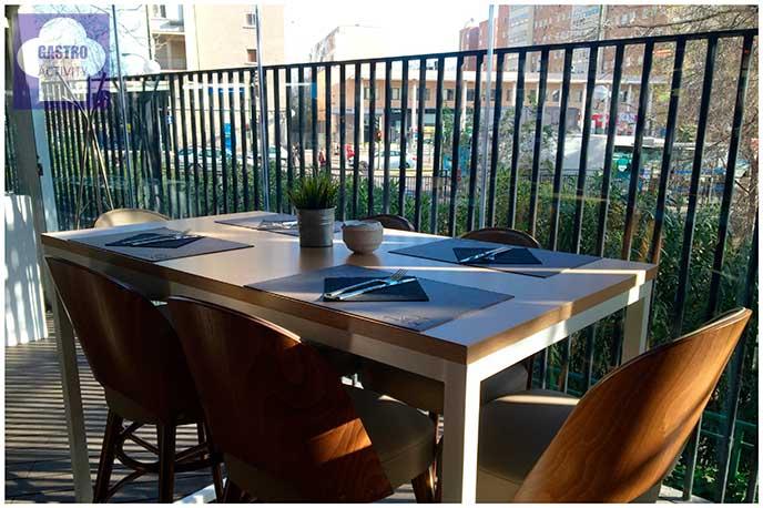 Una vista desde la terraza Restaurante 90 Grados Madrid