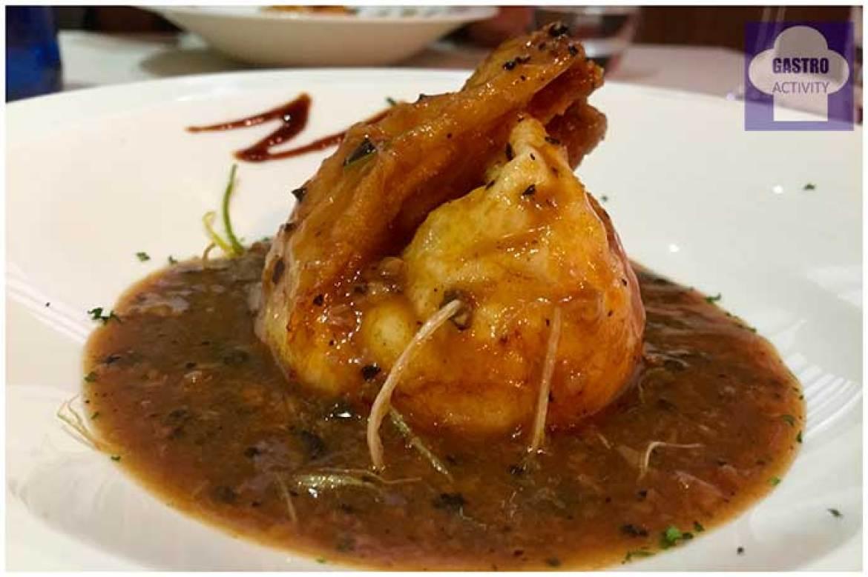 Saquito de huevos de corral con boletus y trufa Restaurante Vinateros 28 Moratalaz Madrid