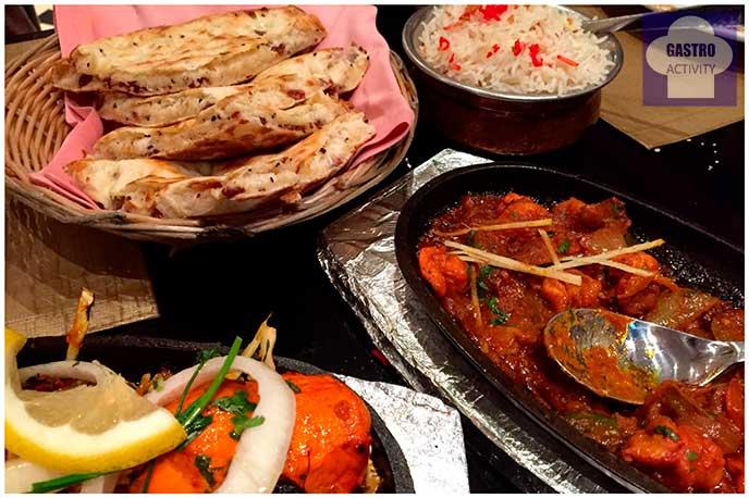 Prawn Jalpiazi Restaurante Purnima comida hindu Madrid