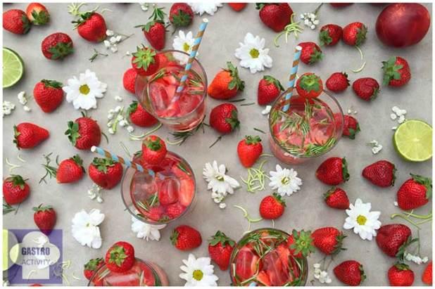 Aguas infusionadas de Bezoya de fresa al estilo Lauraponts