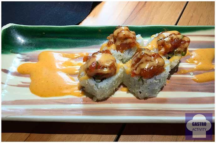 Urakami de atun picante Restaurante Enso Sushi japones