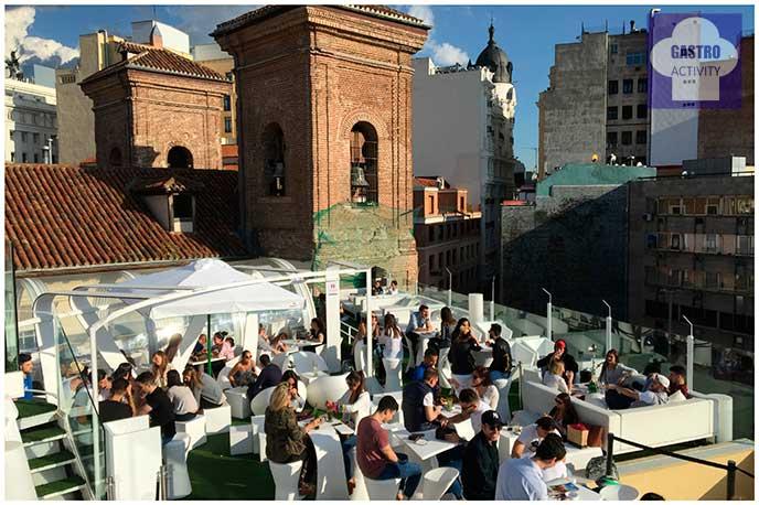 Terraza Gymage iglesia San Martin 12 terrazas de Madrid en 2016