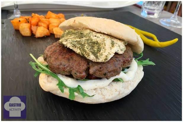 Hamburguesa Beirut Restaurante Shukran comida libanesa Madrid