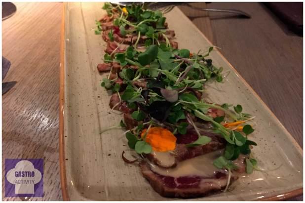 Tataki de Solomillo Restaurante Lavaca Madrid