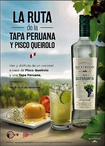 Ruta de la Tapa Peruana y Pisco Queirolo tapas y cocteles