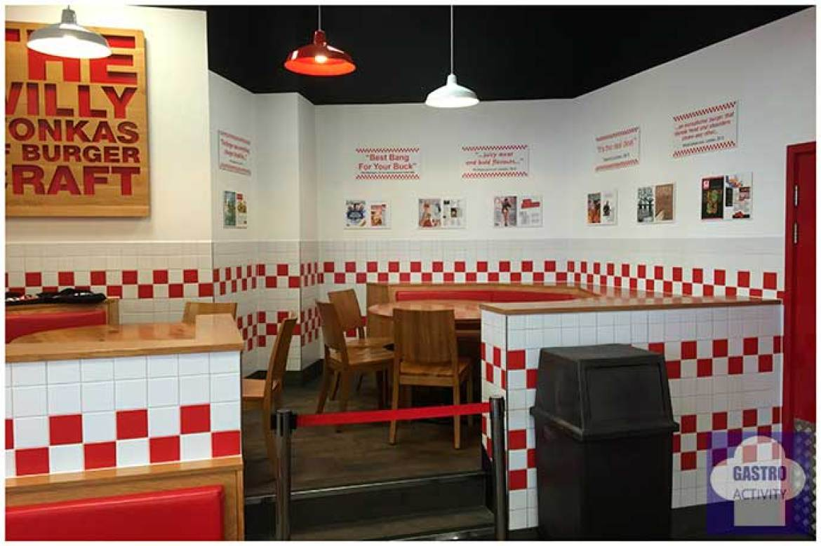 Comedor Hamburguesas Five Guys Madrid