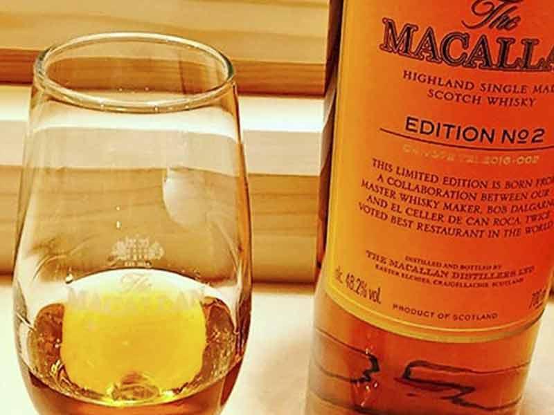The Macallan edition numero 2 Hermanos Roca en copa sin hielo