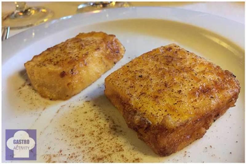 Leche frita Menu de la vendimia en Normandie Ondarreta