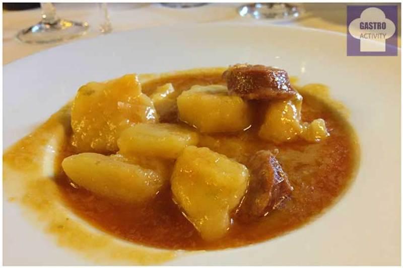 patatas a la riojana Menu de la vendimia en Normandie Ondarreta