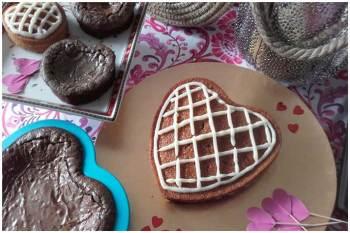 Tarta de zanahoria y Brownie San Valentin 2017 La Miguina