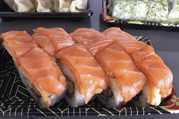 Salmón Kariage Rolls Go Sushing comida japonesa a domicilio en Madrid