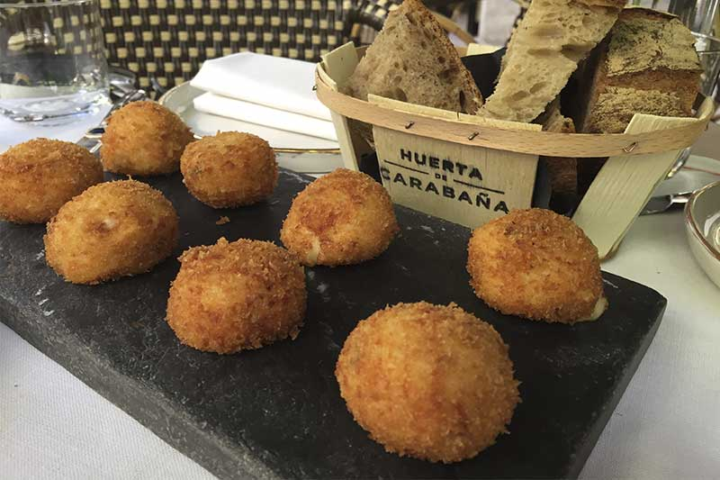 Croquetas de jamon iberico La Huerta de Carabaña Gastrofestival Madrid 2019