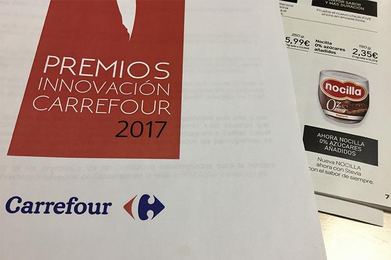 Premios Innovacion Carrefour 2017 Nocilla con stevia