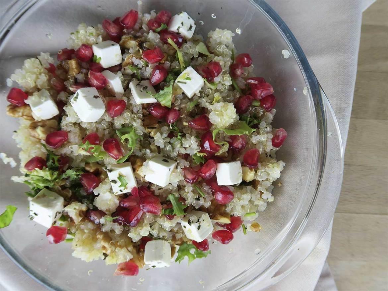 Ensalada templada de quinoa Receta Tournedo de cordero