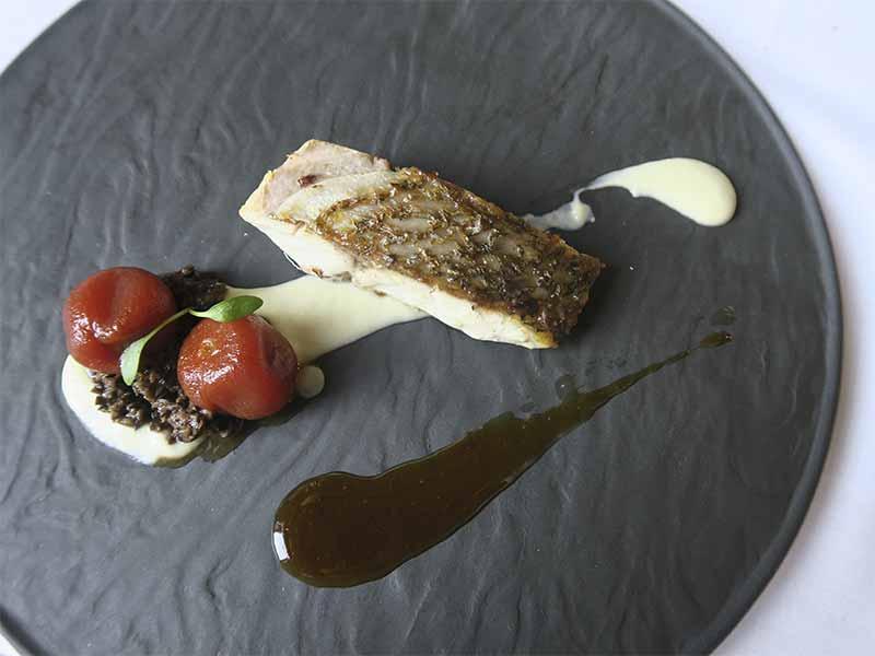 Restaurante Casa Elena en Toledo Corvina con salsa de hinojo