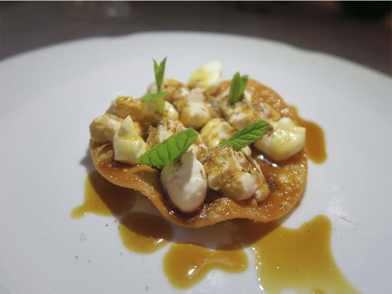 Restaurante La Malaje Madrid Tartaleta de limon y queso
