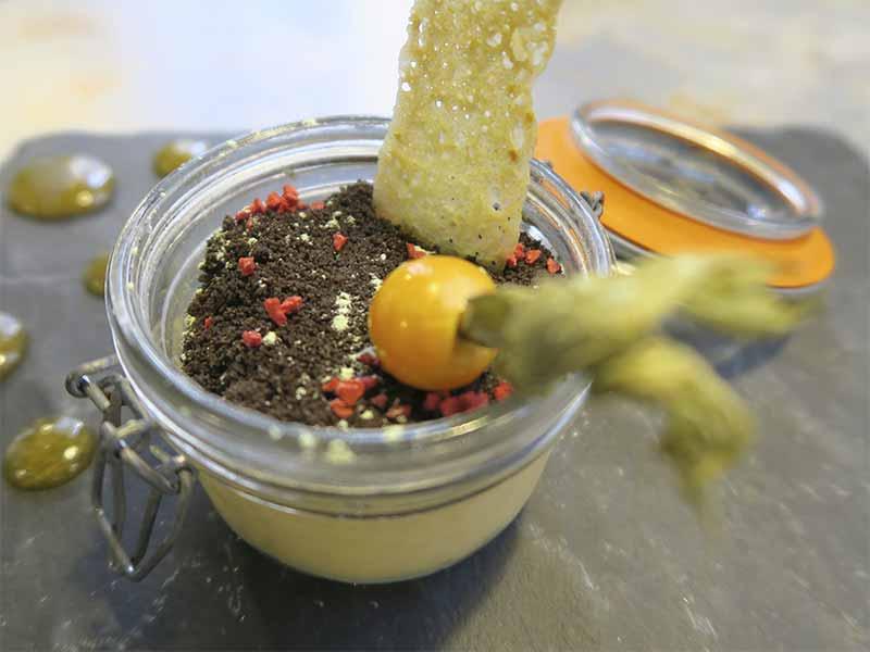 Cheesecake de Lucuma Restaurante Capon cocina Chifa y Nikkei
