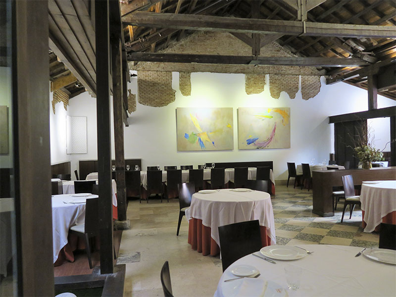 Menu de San Isidro del restaurante Paulino de Quevedo Comedor