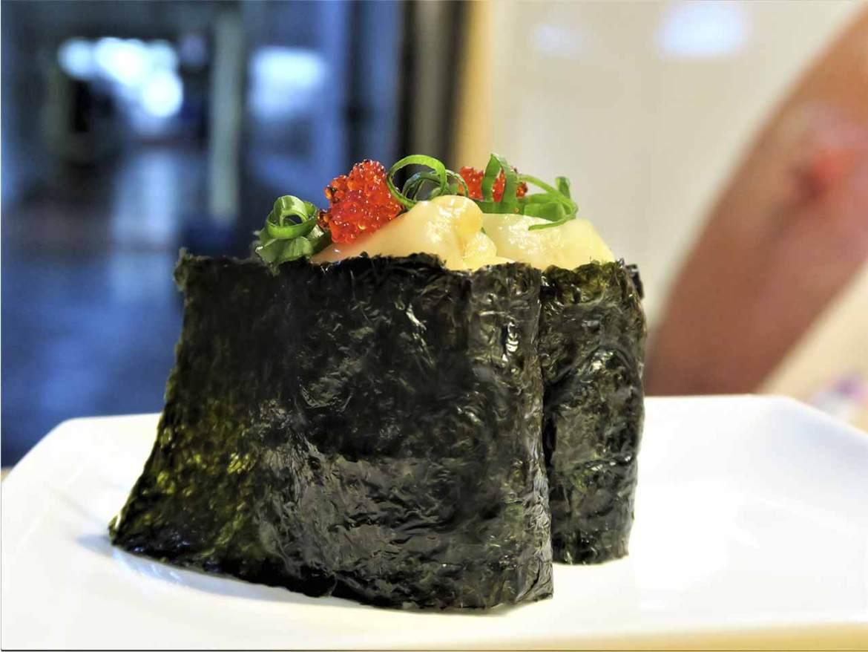 Gunkan de Vieira Sushi en Bici comida japonesa
