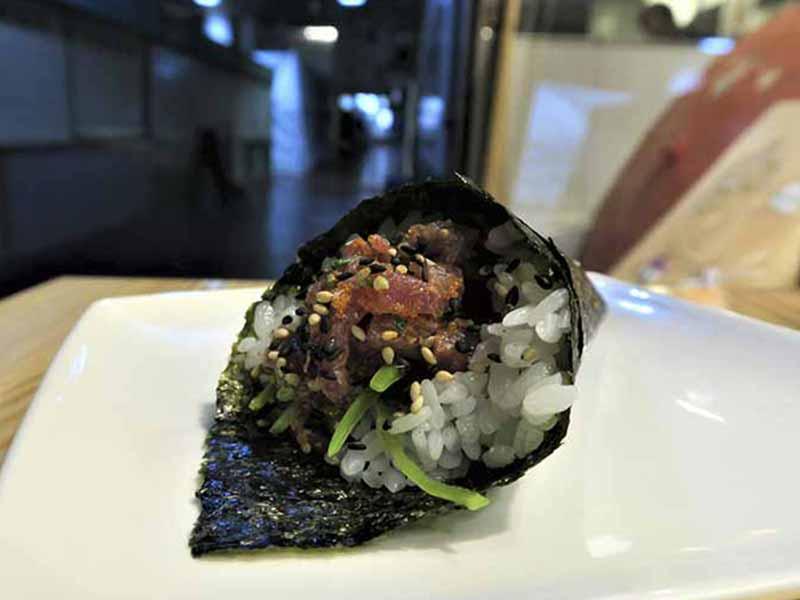 Temaki de Atun Sushi en Bici comida japonesa