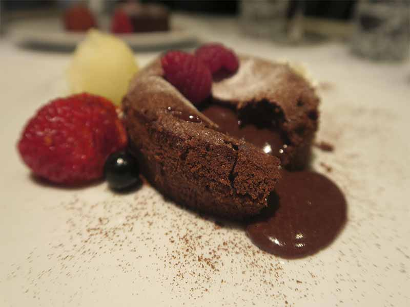 Restaurante The One Coulant de chocolate sin azucar