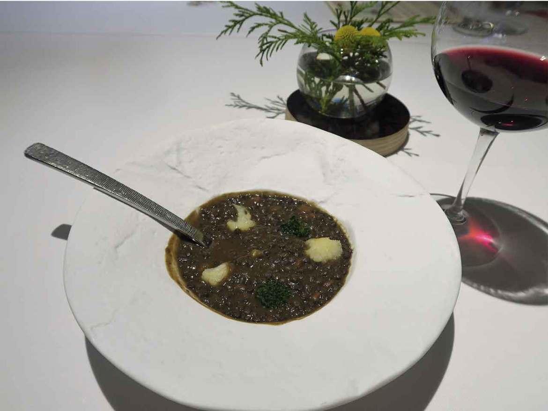 Alta Cocina Saludable restaurante Albora Lentejas con verduras