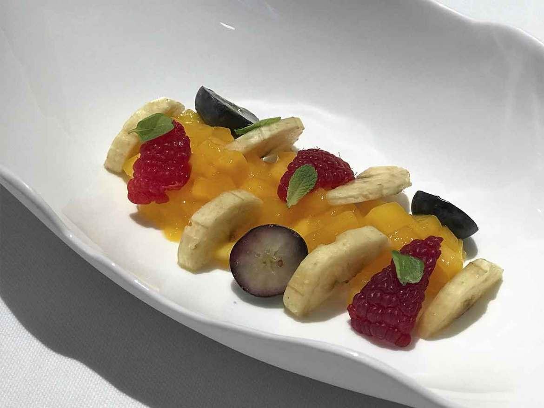 Alta Cocina Saludable restaurante Albora Macedonia de frutas