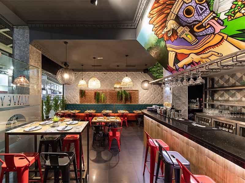 Mawey Taco Bar local de Gran Vïa
