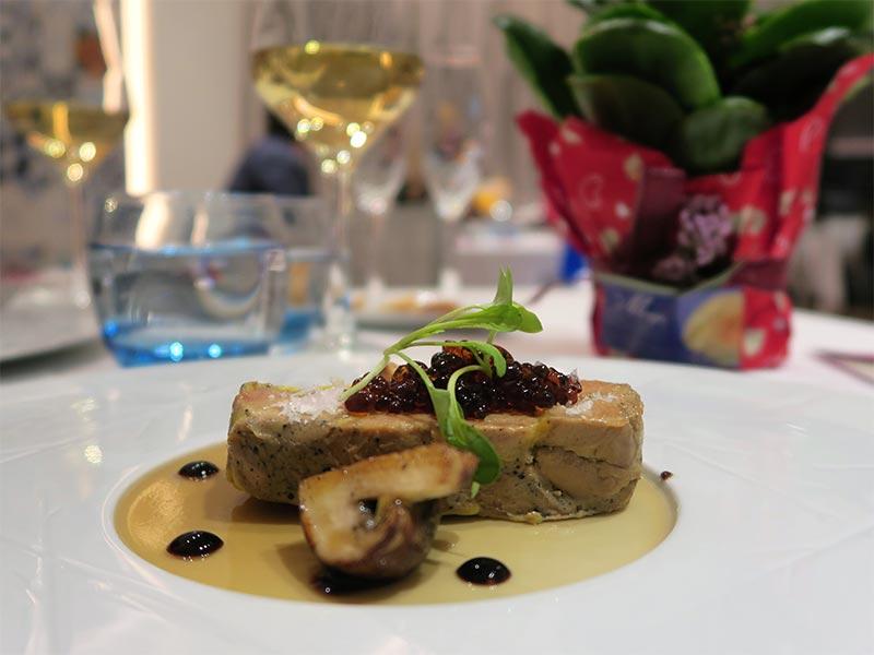 Restaurante Kalma Madrid Marriott Auditorium Hotel Foie Gras al Pedro Ximenez