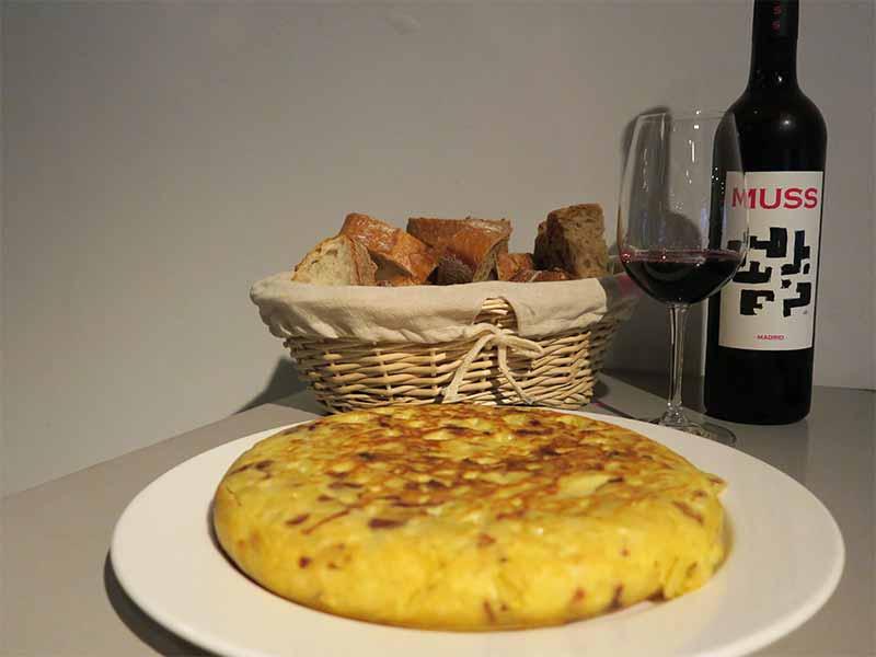 Tortilla de patatas Casa Dani Vino de Madrid