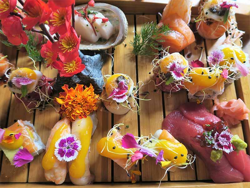 Restaurante Kiboka Surtido sushi sashimi nigiri