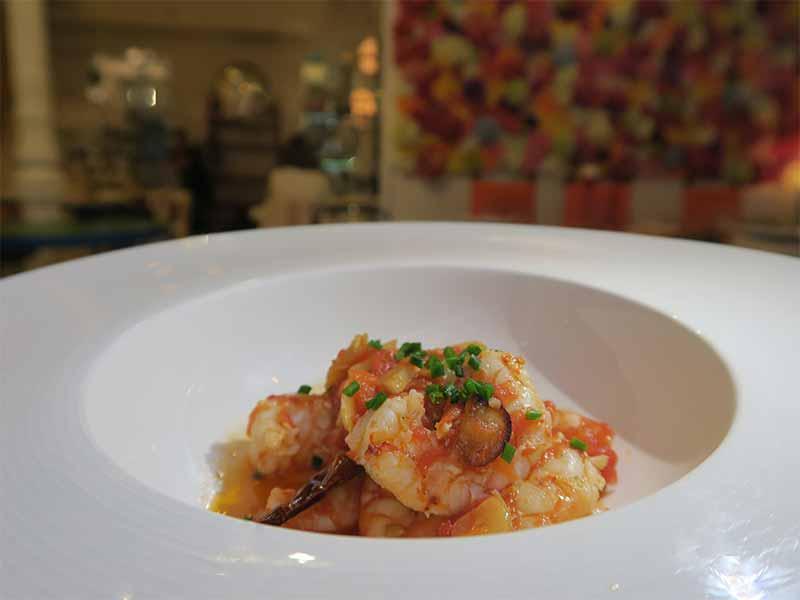 Restaurante LaVeronica Gambas al ajillo y tomate