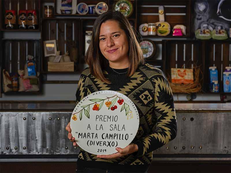 Premios Academia Madrileña de Gastronomía 2019 Jefa de Sala DIverxo