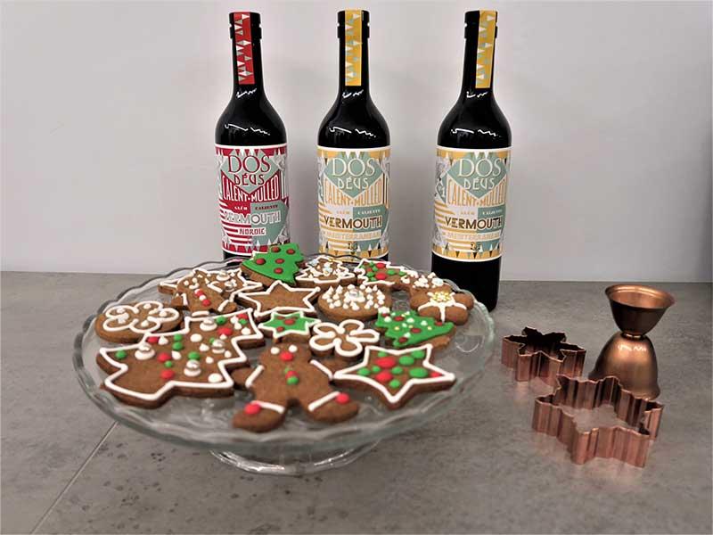 Galletas de Navidad y Vermouth caliente Dos Deus