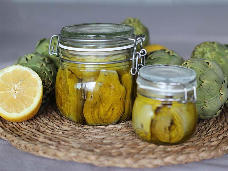 conserva de alcachofas en aceite de oliva