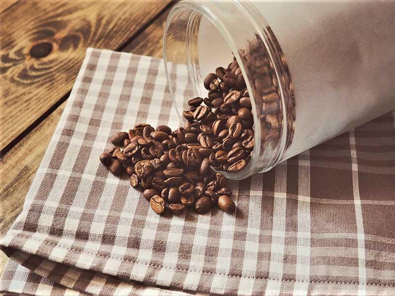 Cafe en grano almacenado