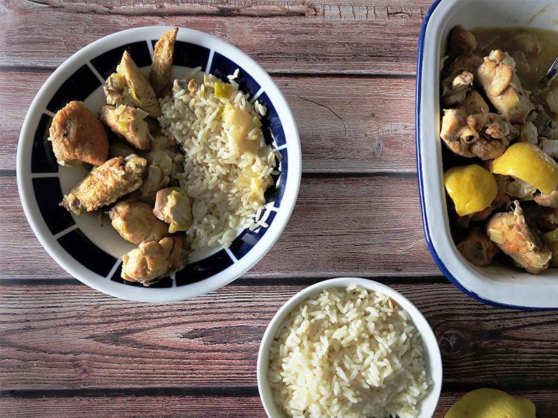 receta de pollo al limon en olla rapida