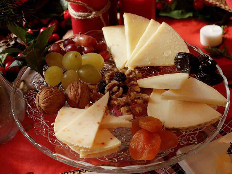Cena de Nochebuena Tabla de quesos