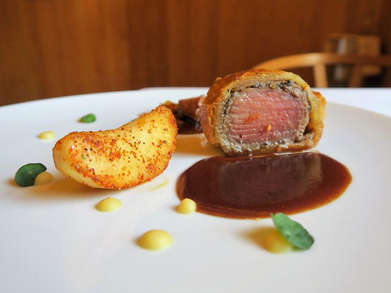 Restaurante A'Barra en Madrid Solomillo Wellington Joselito