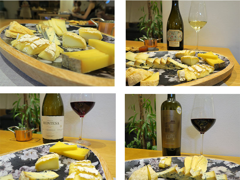 Cata de quesos franceses con vinos de La Rioja Poncelet Cheese Bar