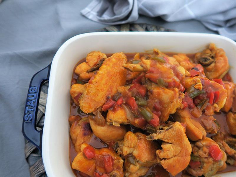 Pollo al chilindron gusio tradicional