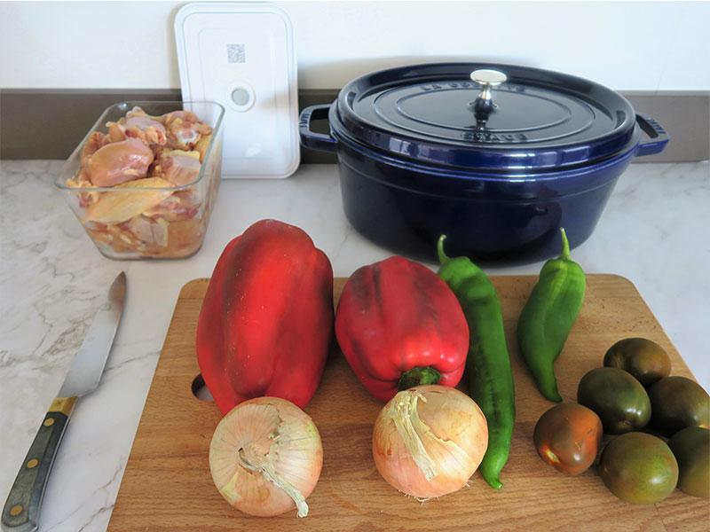 Pollo al chilindron ingredientes