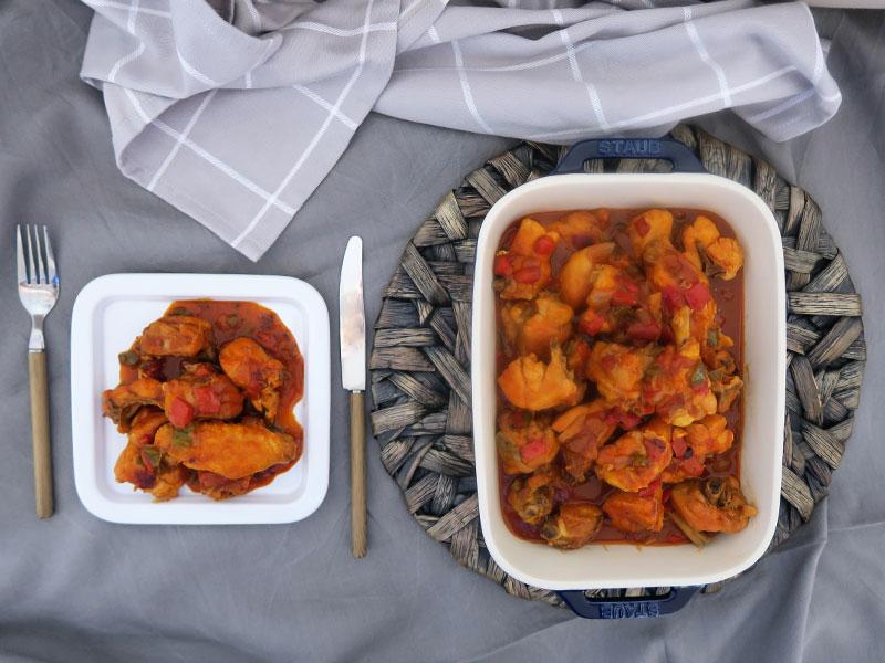 Pollo al chilindron receta aragonesa