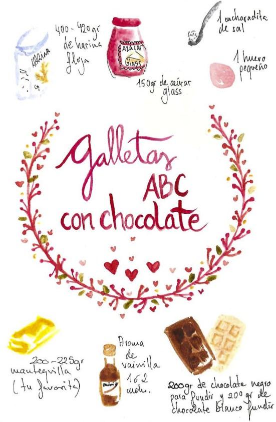 galletas corazon de chocolate