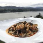 Fabas de Lourenzá, almejas y algas marinas