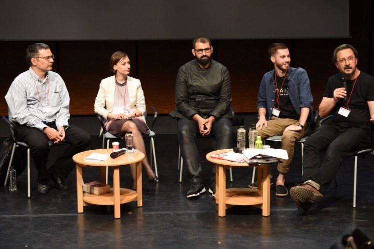 La Congresul de Gastronomie și Vin alături de Anda Becuț Marinescu, Florin Dumitrescu, Radu Iliescu și Tiberiu Cazacioc