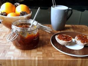 karamelliseret appelsinmarmelade