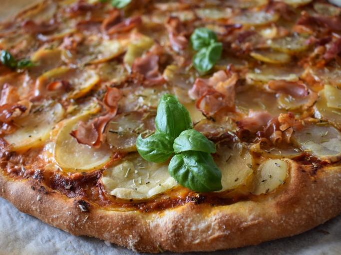 Low fodmap kartoffel pizza
