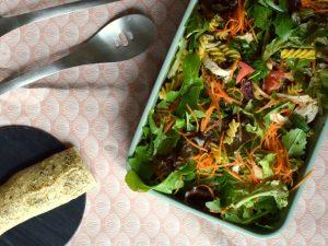 Pasta salat med kylling